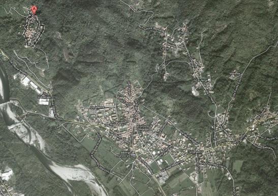 mappa per arrivare a Ara